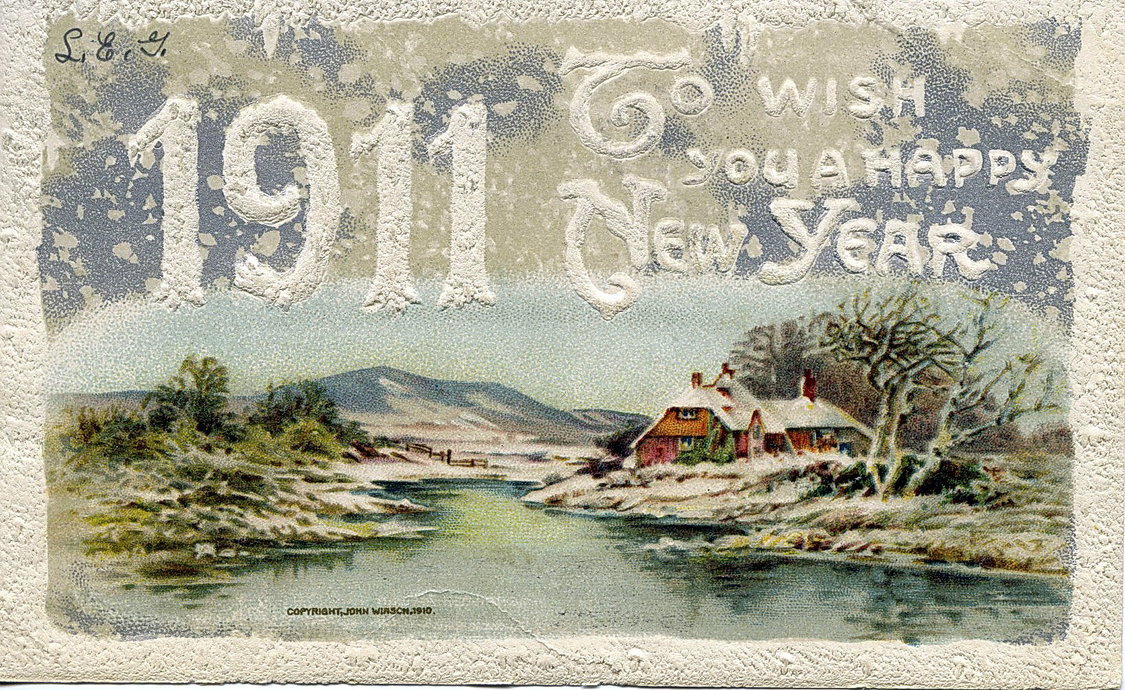 Happy New Year From A Century Ago Old Postcard Greetings