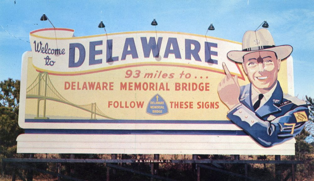Welcome to Delaware: 93 Miles to the Delaware Memorial Bridge