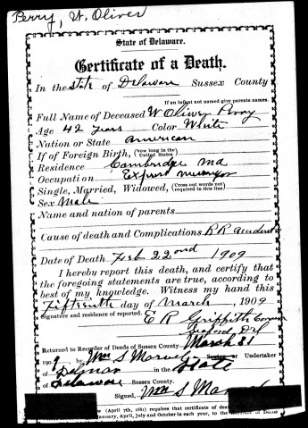delaware archives makes death, birth & marriage certificates ...