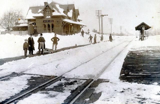 newark railroad train station feb 14 1899 776 aa