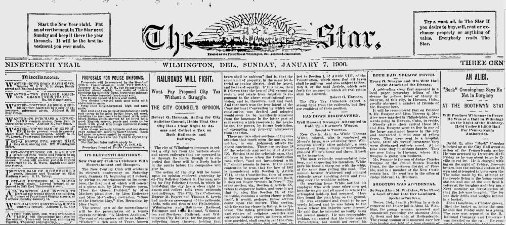 Historical Content of Wilmington Newspaper, The Sunday Morning Star, Available for Free on Google