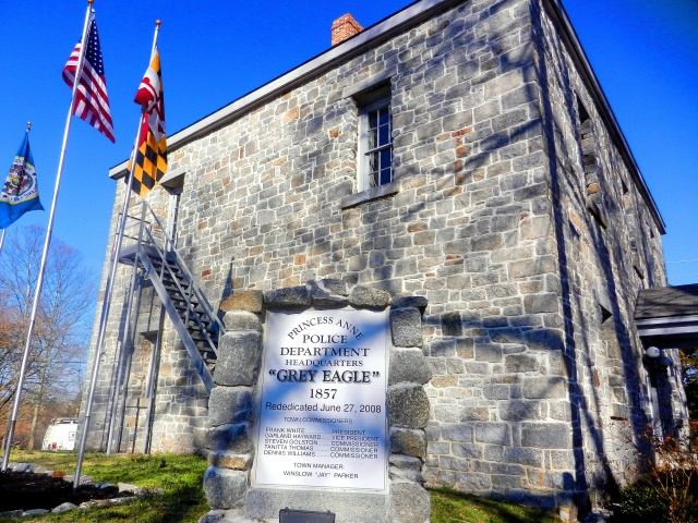 The Grey Lady, the Old Somerset County Jail in Princess Anne is now the headquarters for the police department.