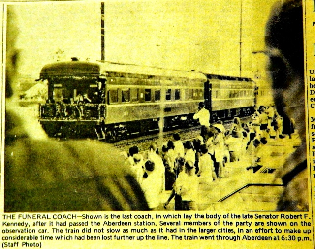 Thousands had been waiting at the Aberdeen Station since 1:30 p.m.  Source:  Harford Democratic, via the Aberdeen Room