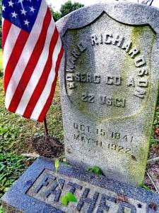 The grave of Sgt. Edward Richardson, USCT, Woodstown, NJ