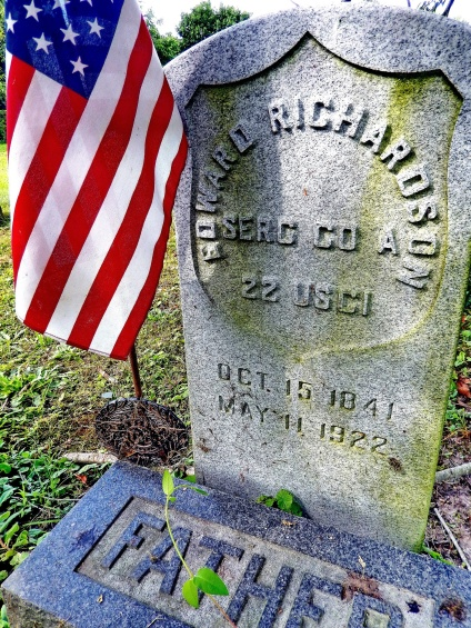 The grave of Sgt. Edward Richardson, USCT, Woodstown, NJ