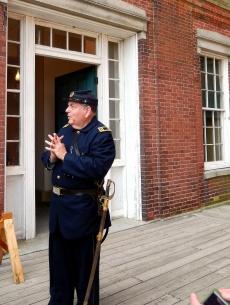 Capt. Clark escorts inspectors around the Fort.