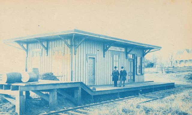 The B & O Marshallton Station in 1891.  Source:  Library Company of Philadelphia.