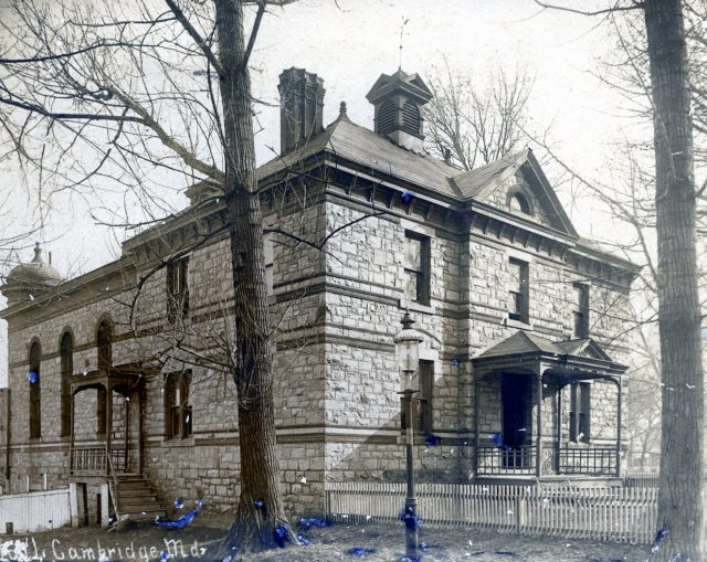 Postcard of the Dorchester County Jail, about 1910.