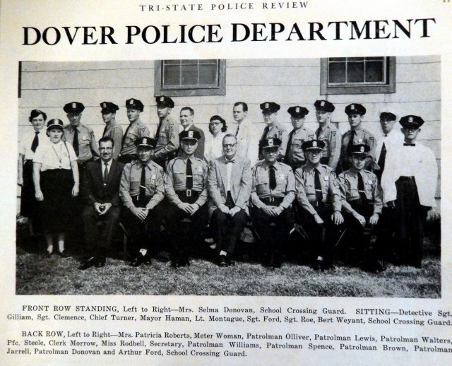 Dover, DE Police Department in 1956. Source:  Tri-State Police Review.