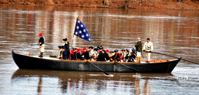 General George Washington crosses the Delaware
