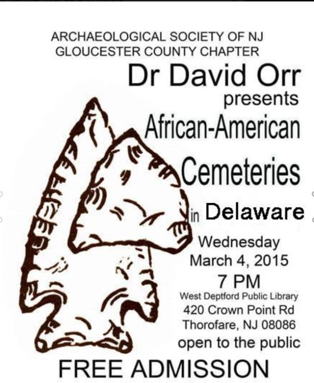 Dr. David Orr presents African-American Cemeteries in Delaware.